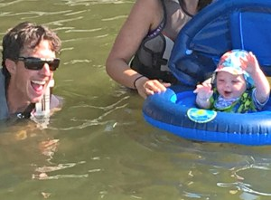 First time swimming