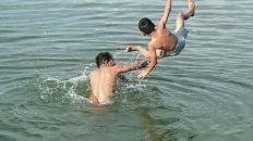 Swimming @ Tejaswini River