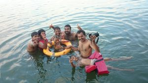 Bekal Houseboat Swimming