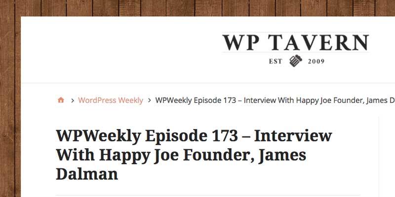 Happy joe WordPress Weekly