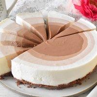 עוגת גבינה ושוקולד אומברה