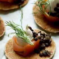 Russian Style Mini Buckwheat Pancakes