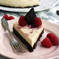 Healthy Brownie Cheesecake