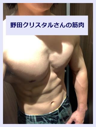 野田クリスタルの胸筋と腹筋