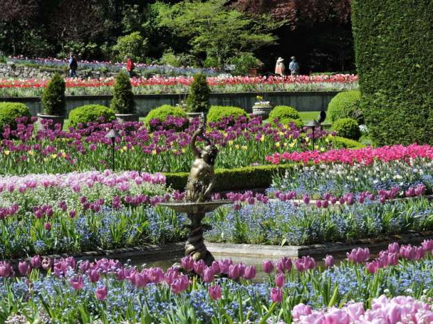 The Italian Garden at The Buchart Gardens