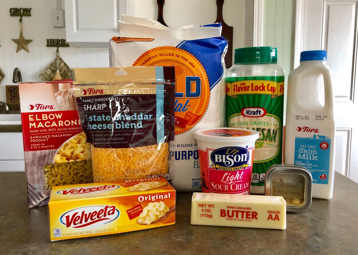 Creamy Macaroni and Cheese ingredients