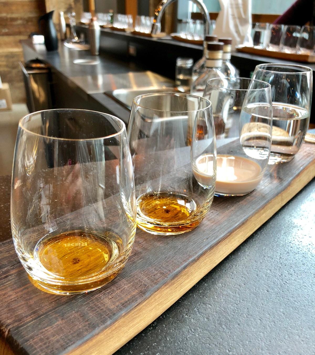 Whiskey tasting at Gretzky Estates Niagara-on-the-Lake