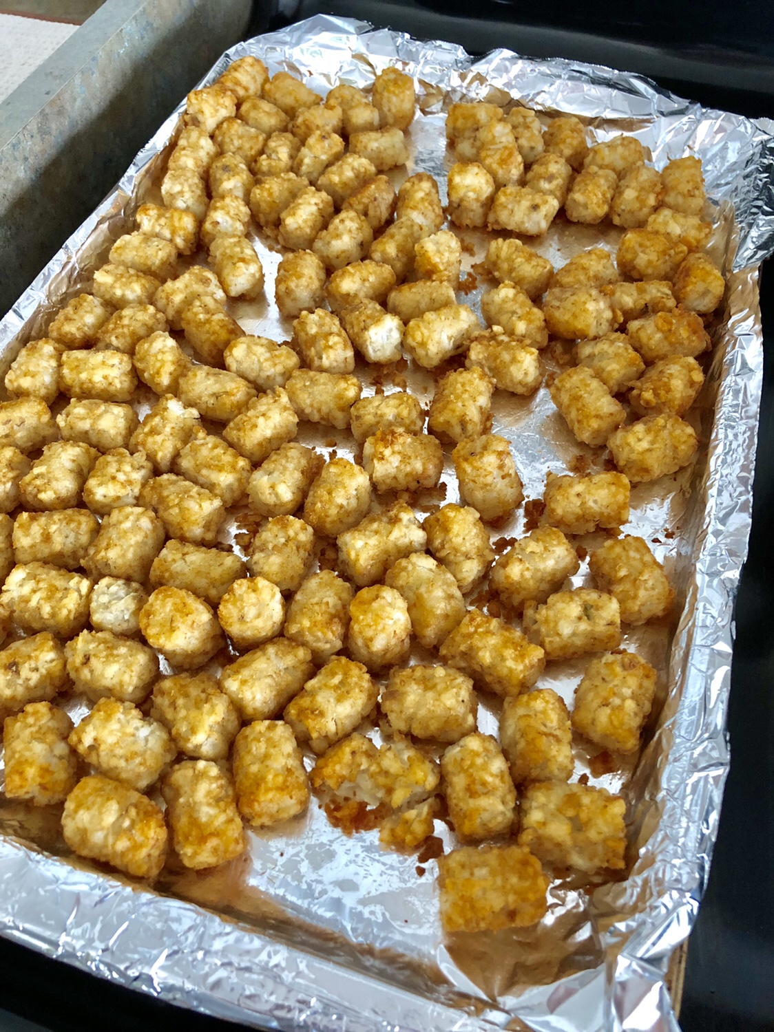 Cook tater tot according to package directions. #totchos #tatertotnachos #cincodemayo #tatertotrecipes #mexicanrecipes