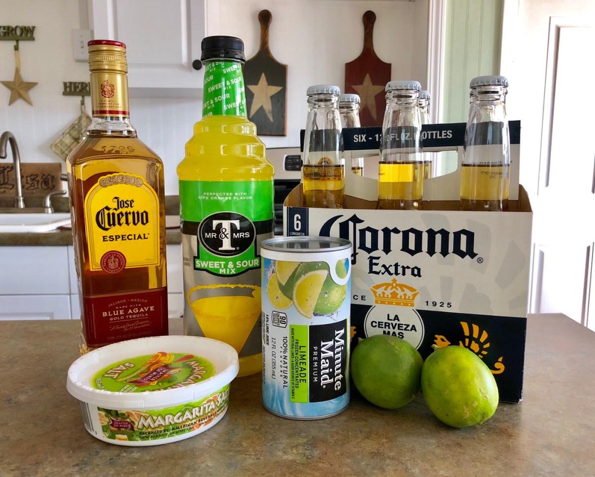 Beer Margaritas ingredients list #beermargarita #beermargaritas #cincodemayo #summercocktails #summerdrinkrecipes