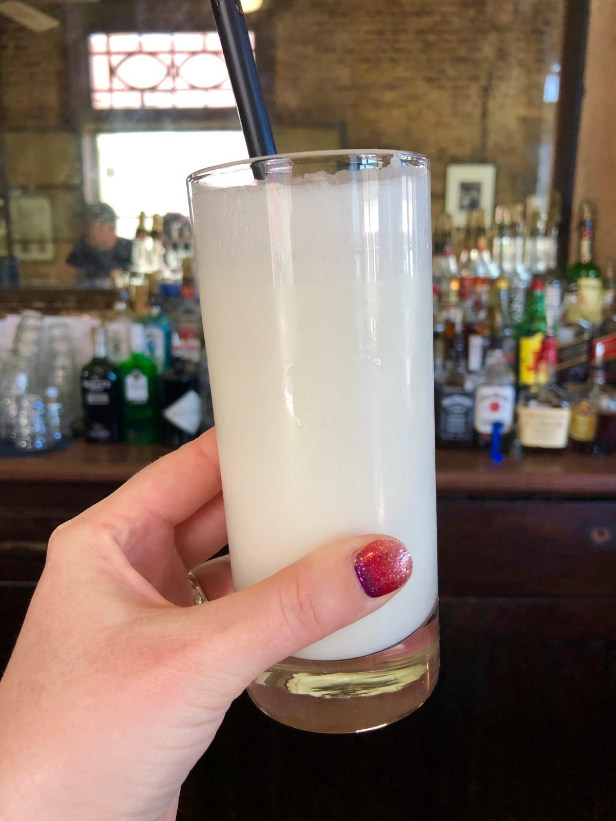 Ramos Gin Fizz | Tujague's #tujagues #ramosginfizz #neworleansdrinks #wheretoeatinnola #neworleansrestaurants