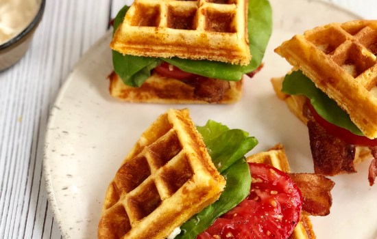 Cornbread Waffle BLT Sandwiches