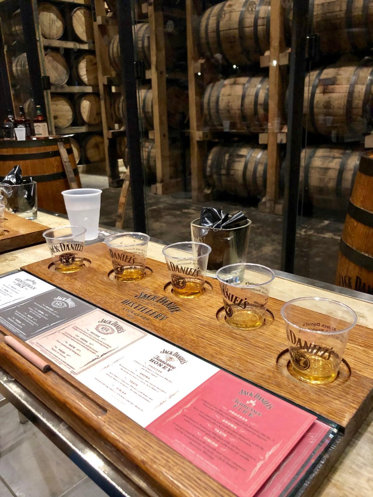 Tasting Room | Jack Daniels Distillery #jackdanielstour #jackdanielsdistillery #nashvilletn #flightofjack #lynchburgtn #thingstodoinnashville