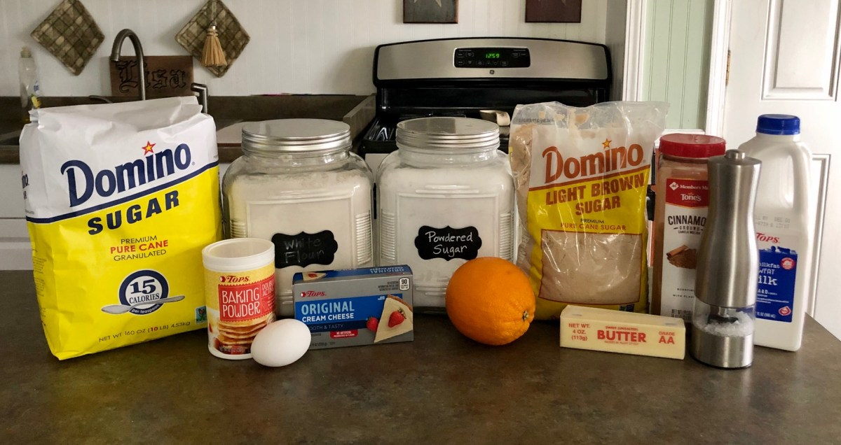 Cinnamon Roll Cookies ingredients list #cinnamonrollcookies #cookies #christmascookies #cinnamonrolls #cinnamonbuncookies #cinnamondesserts