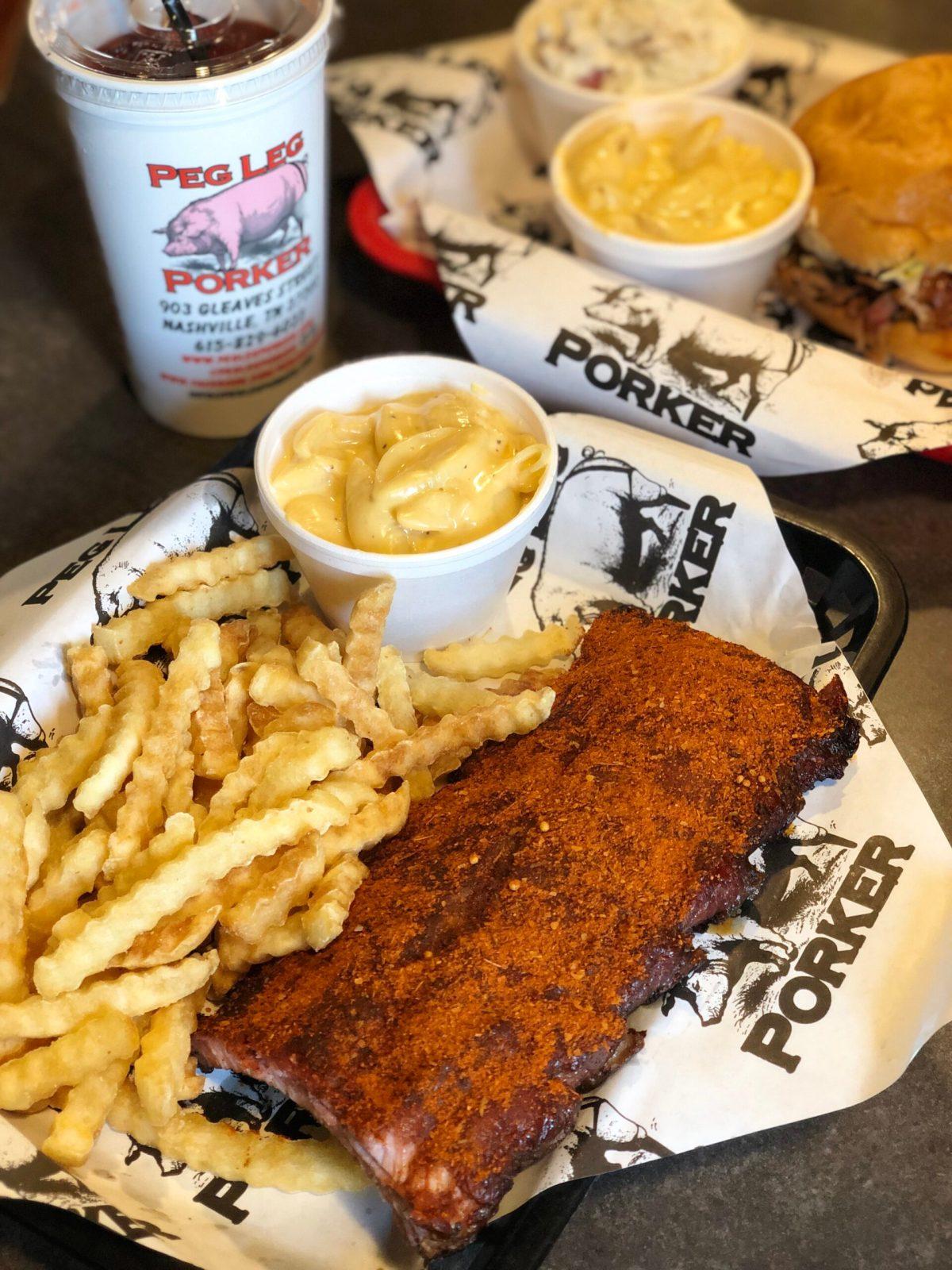BBQ Ribs at Peg Leg Porker | Nashville, TN #peglegporker #nashvillebbq #whattoeatinnasville #wheretoeatinnashville #bestbbqnashville #bbqrestaurantsnashville #nashvilleinstagram