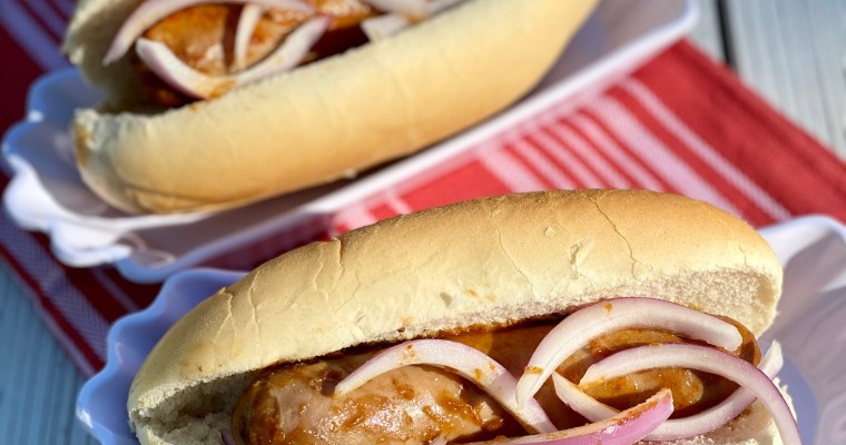 Slow-Cooker Root Beer Brats