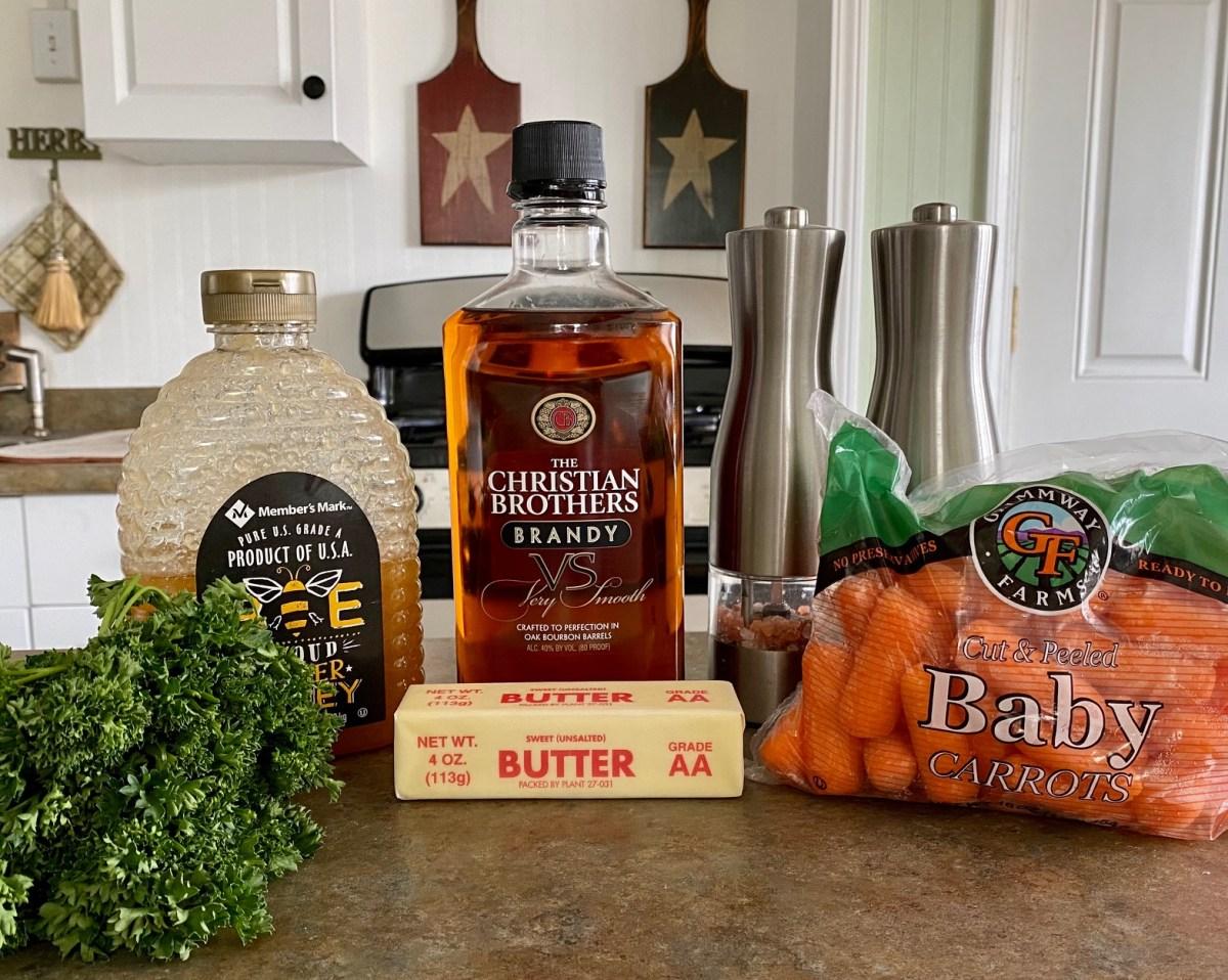 Brandy Glazed Carrots ingredients list #carrots #babycarrots #glazeforcarrots #glazedcarrots #brandyglazedcarrots