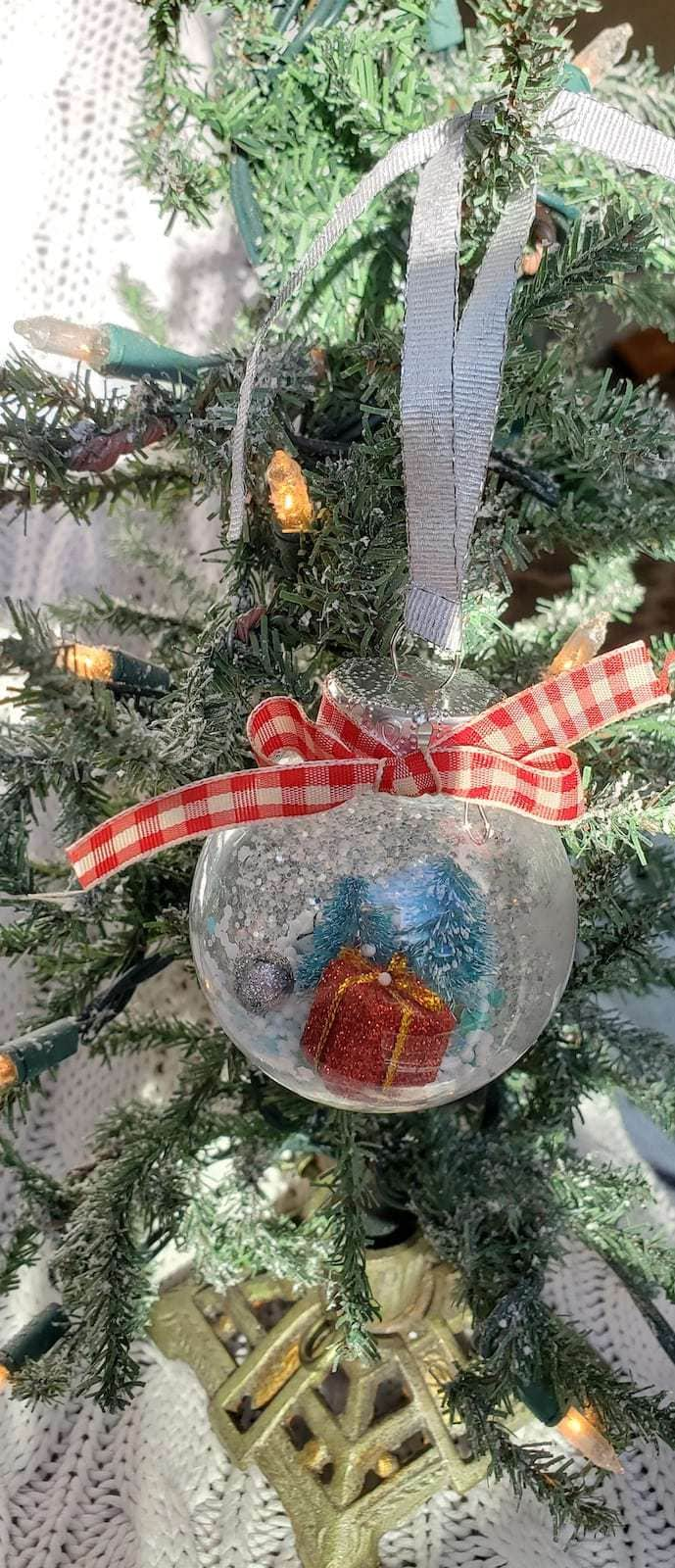 Photo of ornament hanging on a tree