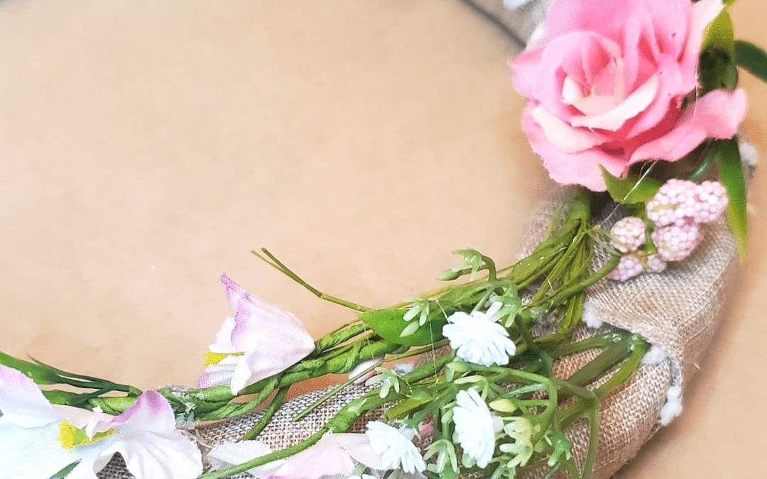 Close up picture of flower wreath
