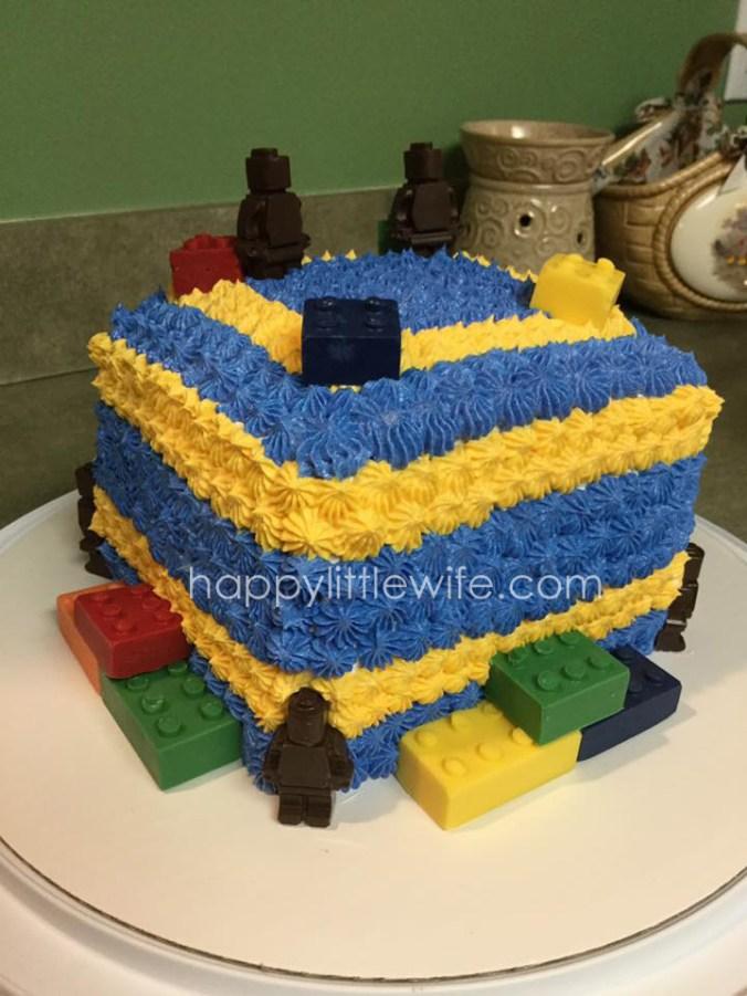 Homemade Building Block Cake
