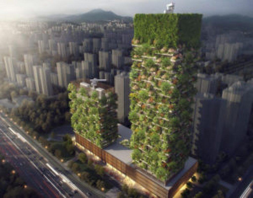 vertikální les