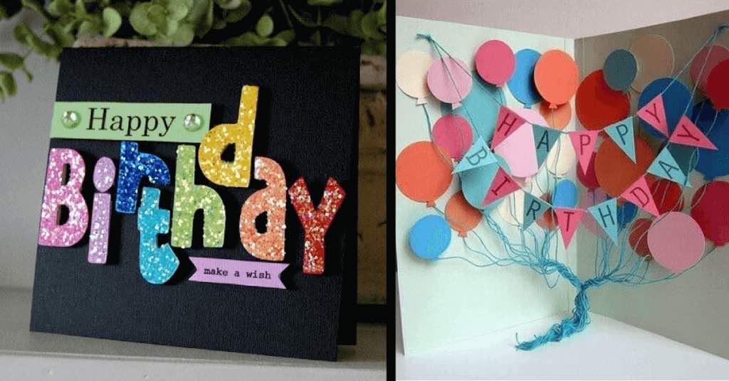 10 jednoduchých ručně vyrobených přání k narozeninám, které udělají radost