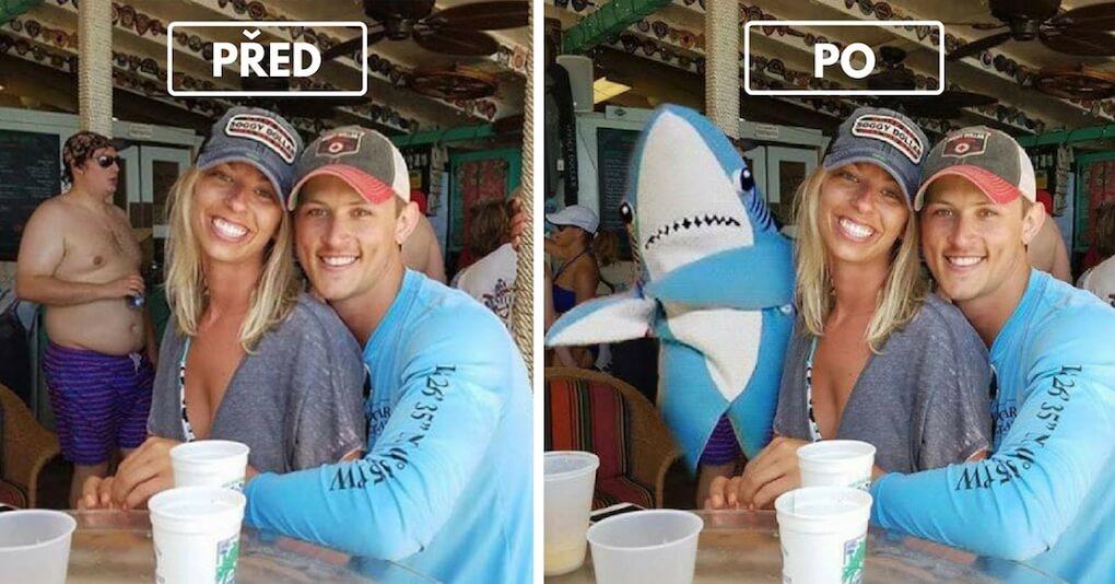 Mladý pár se zeptal na Facebooku, zda by někdo nedokázal vymazat ve Photoshopu muže na jejich společné fotce. Teď toho lituje.