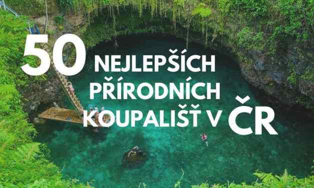 50x nejlepší přírodní koupaliště v ČR roku 2018