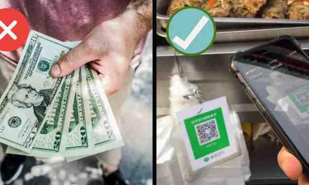 V Číně můžete zaplatit mobilem cokoliv, třeba kousek pizzy na ulici