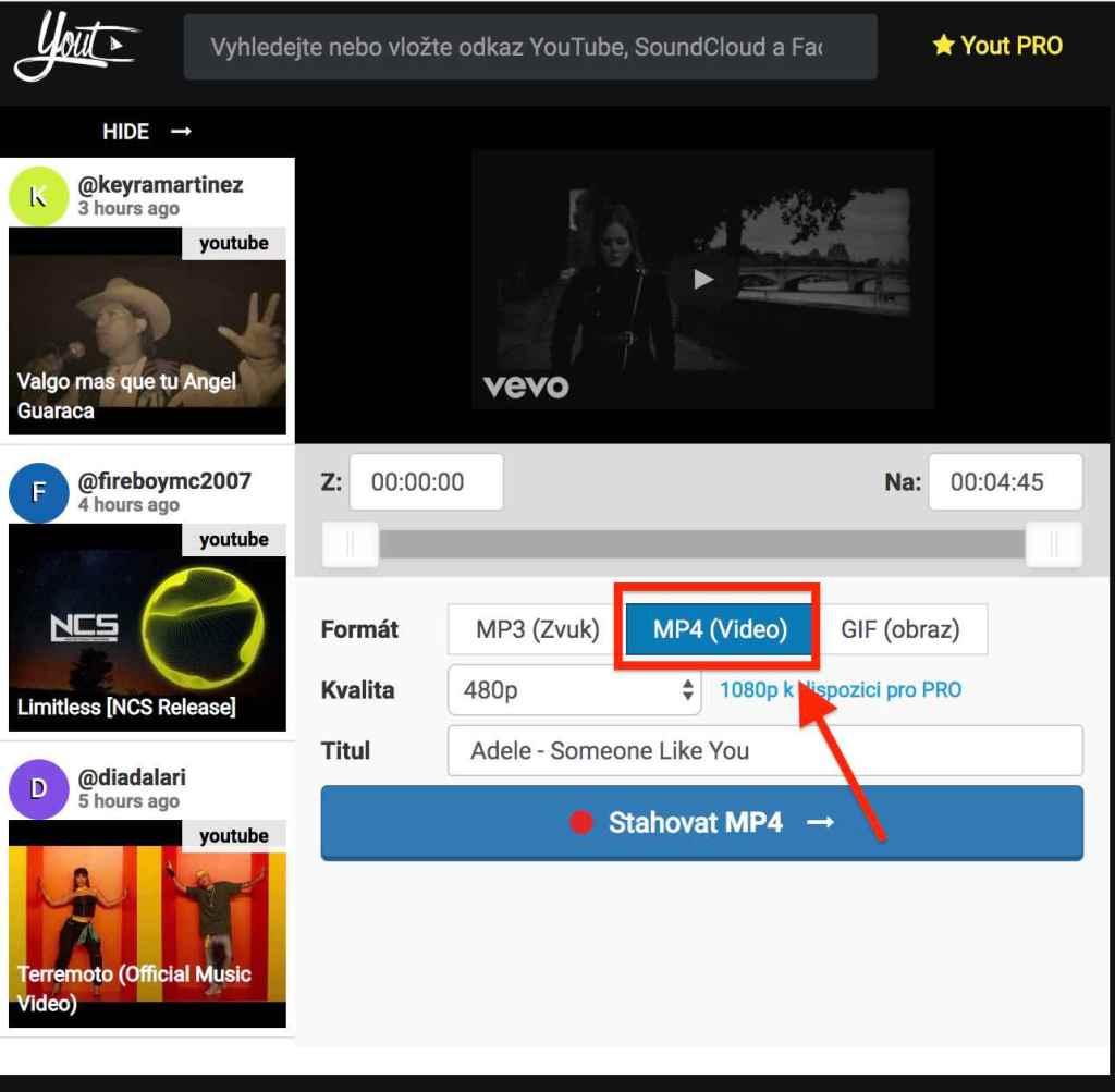 jak stáhnout video z youtube