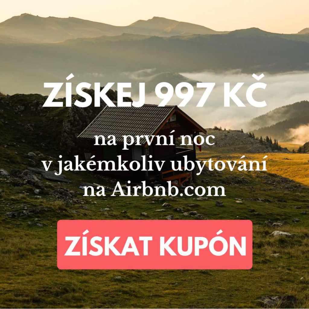airbnb sleva cesko