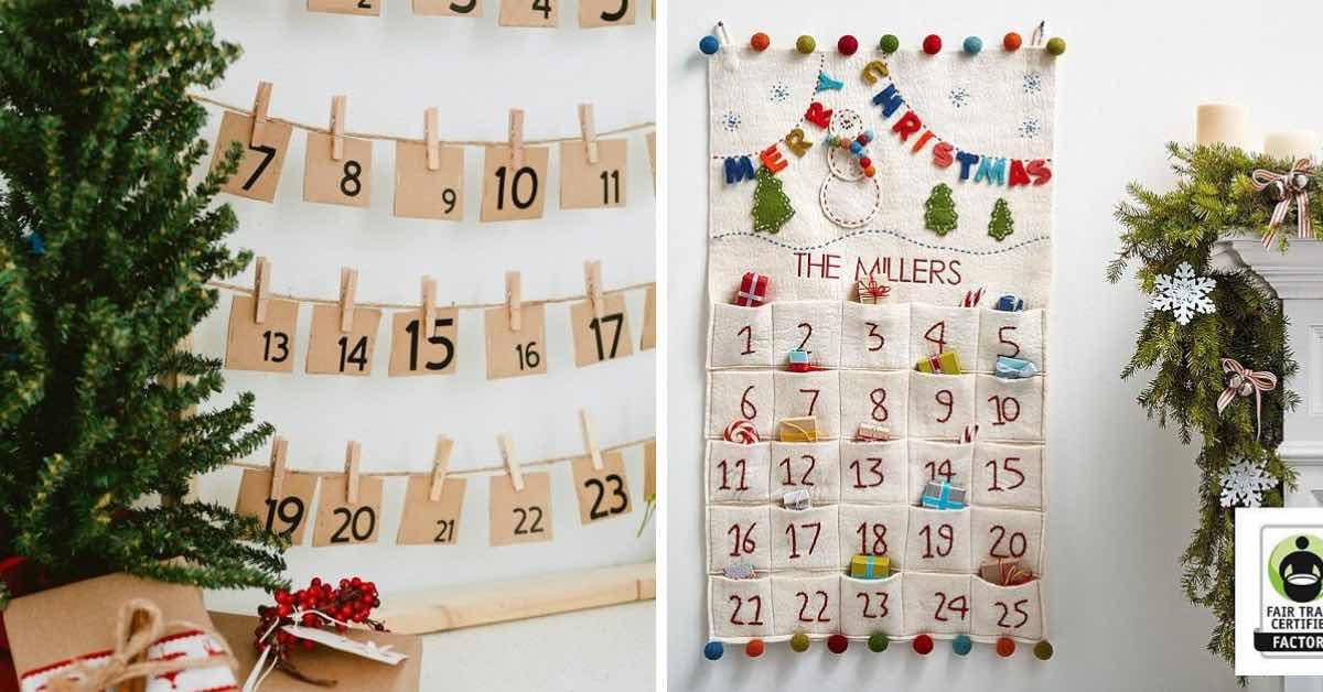 10 nápadů na vlastnoručně vyrobený adventní kalendář