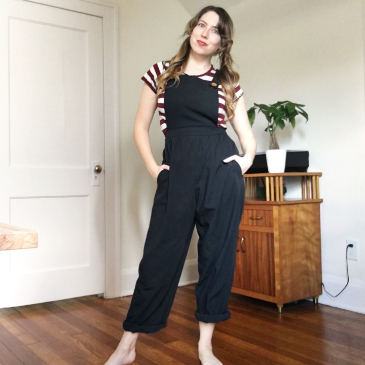 linen overalls sewing pattern