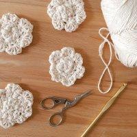 Daisy Crochet Face Scrubbies Pattern