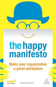 The cover of the Happy Manifesto by Henry Stewart