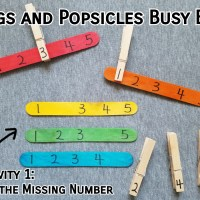 Pegs and Popsicles Number and Colour Busy Bag
