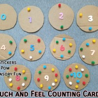 Touch and Feel Counting Cards