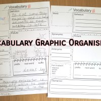 Free printable - Vocabulary graphic organiser