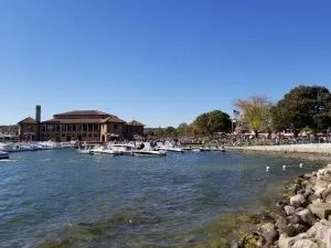 Lake view of Riviera Docks in Lake Geneva