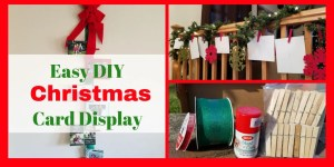 Homemade DIY Christmas Card Displays. Use your holiday cards to decorate your home for Christmas. #christmas #homedecor #holidaydecoratins #christmascards #christmasdecorations