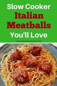 Healthy and Easy Slow Cooker Italian Meatballs recipe. These homemade crock pot meatballs are great for weeknight dinners or party appetizer. Feed your family a delicious and healthy meal with ground turkey, Italian sausage, quinoa, and zucchini. #italianmeatballs, #partyappitizer, #familymeal, #slowcooker, #crockpot