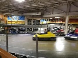 Indoor Go-Karts with three levels of track to race.