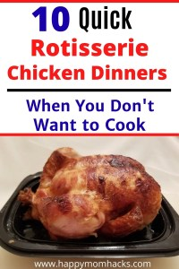10 Easy Rotisserie Chicken Dinner Recipes. How to use leftover rotisserie chicken to make healthy meals the whole family will love. #rotisseriechicken #familydinners #quickdinnerideas #quickmeals #rotisseriechicken #leftoverrotisseriechicken