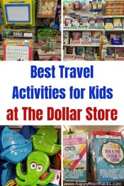 Best Travel Activities for Kids at the Dollar Store.Great for long car rides and plane rides. Use these fun road trip games & activities to keep the kids busy. Find cool busy bag ideas too! Make it a fun vacation with these travel hacks. #travelwithkids #traveltips #familytravel #dollarstore