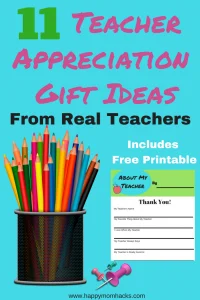 Are you ready with your end of the year Teacher Gift? Don't worry I have you covered with these 11 Teacher Appreciation Gift Ideas from Real Teachers. Find out what they really want you give them. #TeacherAppreciation, #TeacherGift, #StudentGifts, #TeacherAppreciationGifts, #LoveTeachers