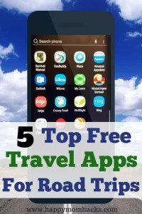 Best Travel Road Trip apps. Top 5 Free easy planning apps to use on your next vacation. Plan your hotels, food, cheaest gas stop, and best driving directions. #traveltips, #travelapps, #familyvacation