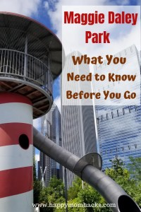 Top Tips Maggie Daley Park Chicago. All the things to do with kids all year. Fun winter activities like the Skating Ribbon and Fun summer adventures in the amazing playground. Learn everything you need to know before you go with your family. #maggiedaleypark, #thingstodochicago, #chicagokids