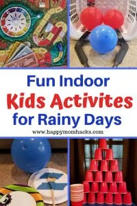 Indoor Kids Activities for Rainy Days. Family Game Night fun with these easy DIY Games. Things to do in the winter time for indoor kids activities too! Your kids will love them! #kidsgames, #indoorgames, #rainydayactivities