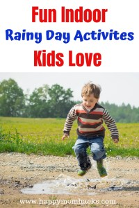 Best Rainy Day Indoor Activities with Kids. Fun Games to keep kids busy and no electronics. #kids #kidsactivities #rainyday #games