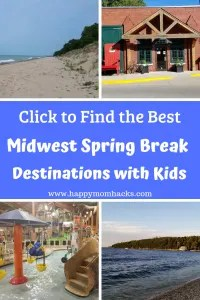Midwest Spring Break trips with kids. 8 best midwest destinations for summer vacations and spring break. Visit fun cities and beautiful places just a short road trip from Chicago. Find the family vacation you've been looking for! #familytravel, #midwesttravel, #midwest, #traveltips, #springbreak, #summervacation