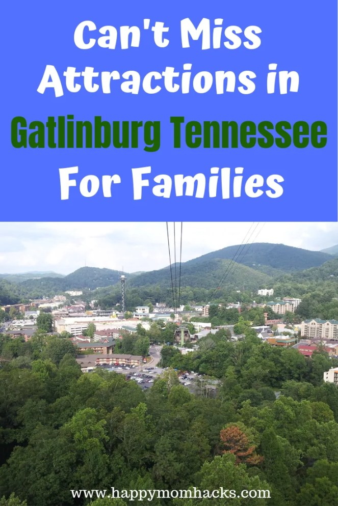 7 Best Gatlinburg Attractions for families. All the fun things to do in Gatlinburg Tennessee with Kids. Visit the beautiful Smoky Mountains and Cades cove. Then have some family adventures at Ober Gatlinburg Amusement park. In town visit Gatlinburg Space Needle, Aquarium, Ripley's Museums and more. Get the tips you need to have the best family vacation. #gatlinburgTN, #smokymountains, #familyvacation, #traveltips
